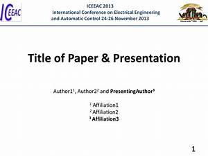 Order presentation