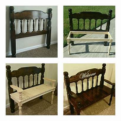 Headboard Bench Furniture Repurposed Projects Benches Wood