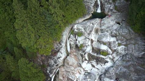 aerial hd clip of granite falls in indian arm