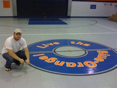 Custom Decals in Epoxy Flooring in Houston, TX