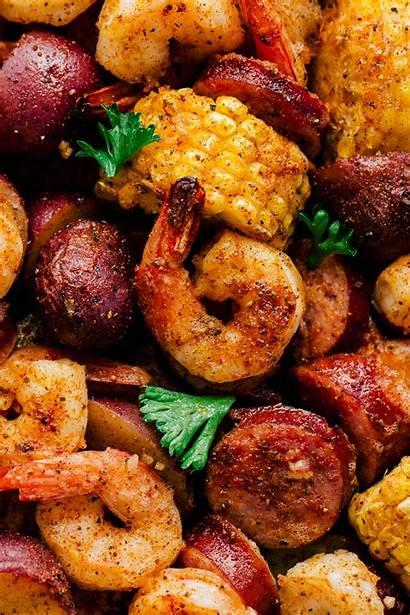 Shrimp Boil Pan Sheet Garlic Recipe Sauce