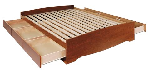 Modus Platform Bed by Prepac Cherry Full Platform Storage Bed 6 Drawers