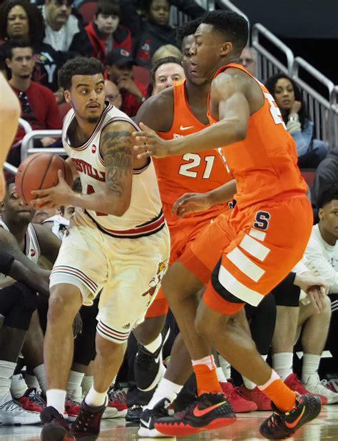 nba zone defense syracuse basketball play players center louisville weigh execs kfc yum tyus ky feb battle against sunday during
