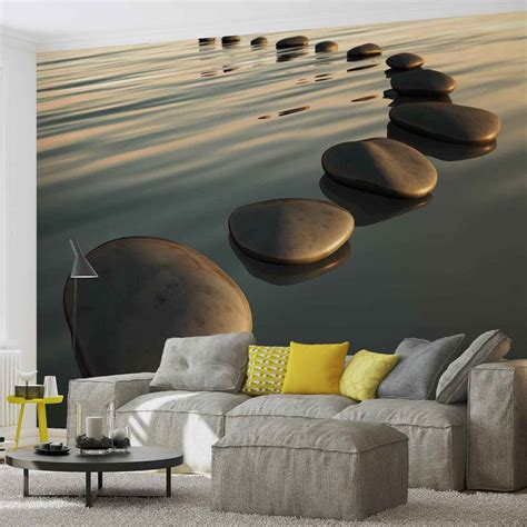 stones ripples zen wall paper mural buy at europosters