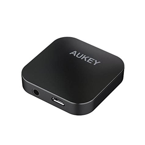 tv receivers aukey aukey bluetooth transmitter and receiver wireless audio adapter with aptx low latency and dual