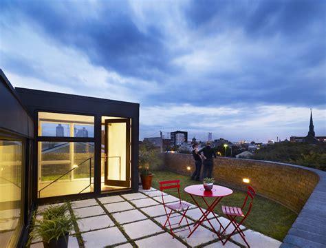 house with rooftop garden roof garden terrace split level house in philadelphia by qb design