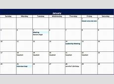 12 Excel Spreadsheet Calendar Template ExcelTemplates