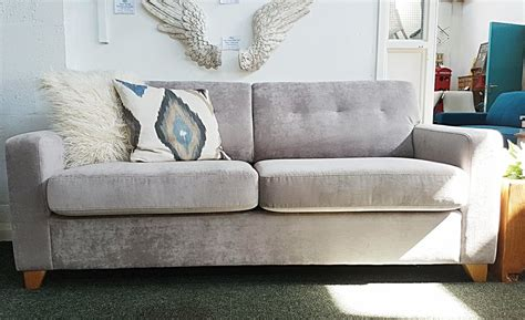 40 a superb lewis zack silver grey sofa bed