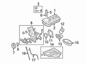 Toyota Tundra Engine Crankshaft Seal Retainer  Rear   4