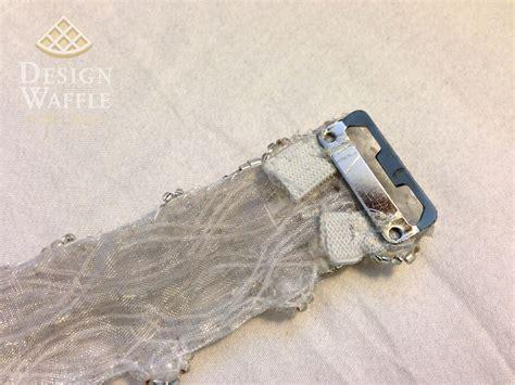 diy beaded wedding belt design waffle