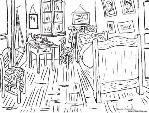 schlafzimmer in arles ausmalbild schlafzimmer in arles vincent gogh ausmalbilder kostenlos zum ausdrucken