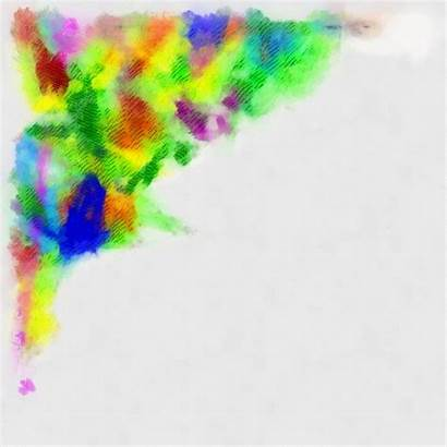Border Corner Paint Clipart Abstract Borders Clip