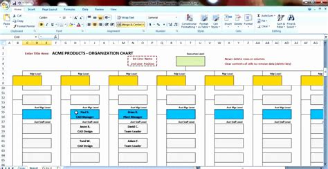 org chart template excel organization chart in excel sle gallery how to guide and refrence