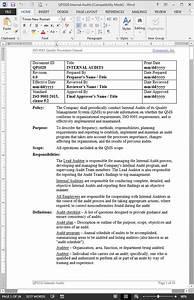 internal audit procedure iso 9001 2015 With internal audit procedure template