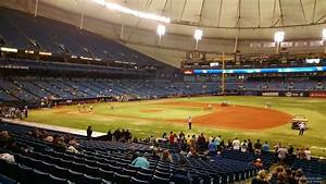 Rays Seating Chart Tropicana Field Section 124 Tampa Bay Rays