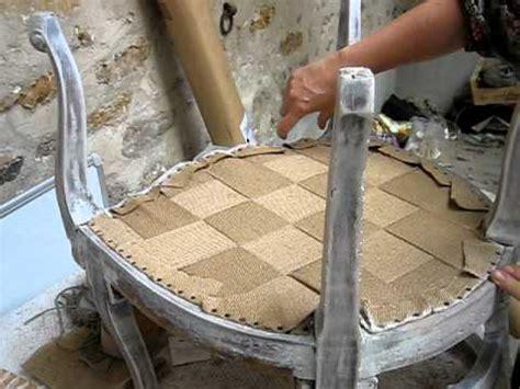 refaire une assise de chaise en bois cabriolet louis xv é 001 sanglage présentation