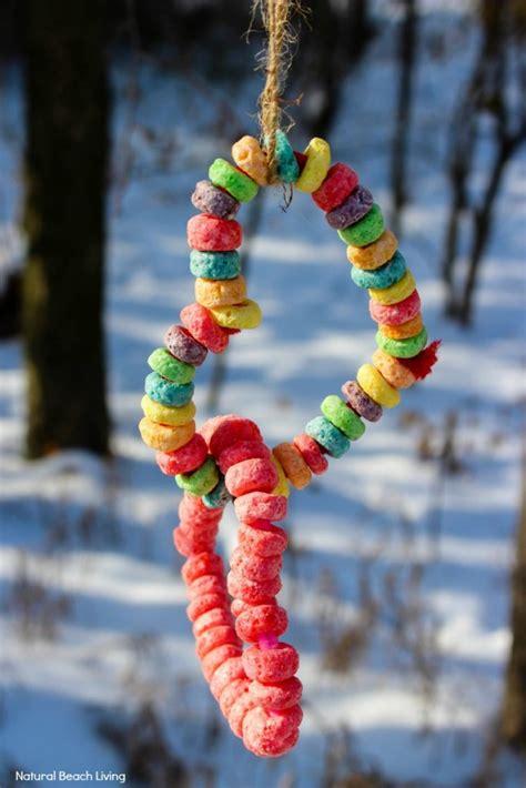 kid  bird feeder ornaments heart bird feeder crafts