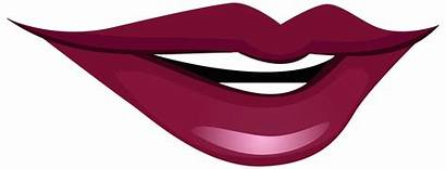 Mouth Clip Clipart Smiling Lip Lips Cat