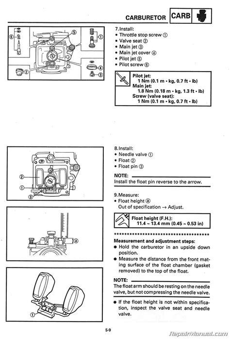 yamaha yfmfw service manual
