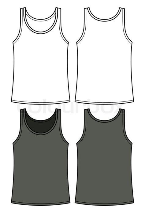 black  white singlet template front   stock