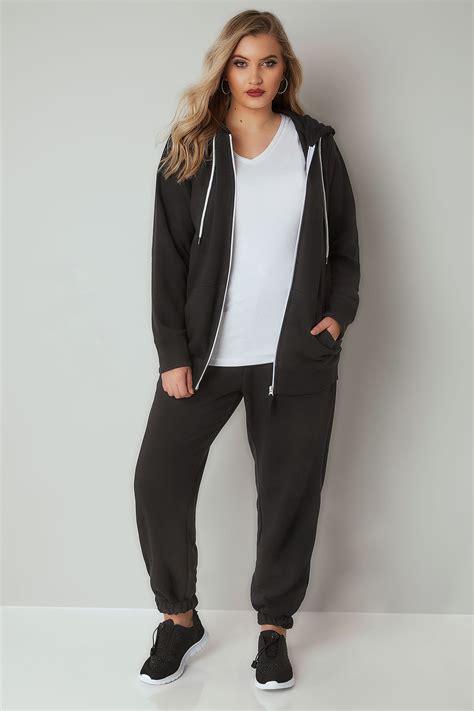Pantalon De Jogging Noir Avec Ourlets Élastiques Aux
