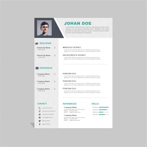 corporate curriculum vitae template psd file free