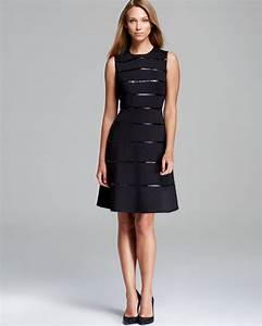 Miller Dress Size Chart Calvin Klein Sleeveless Fit And Flare Dress In Black