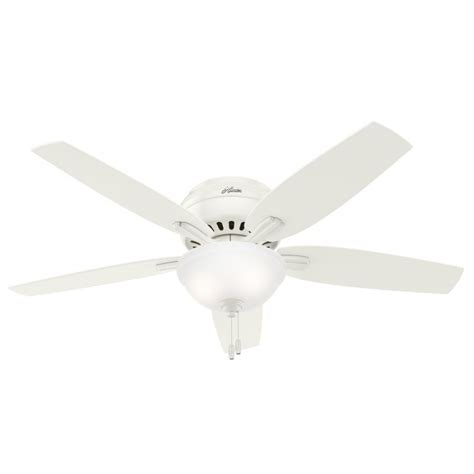 52 inch white ceiling fan hunter 53313 newsome 52 inch 2 light ceiling fan in white
