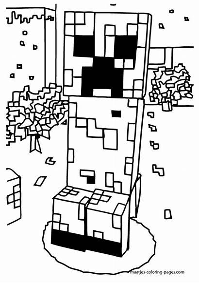 Coloring Minecraft Creeper Printable Pages