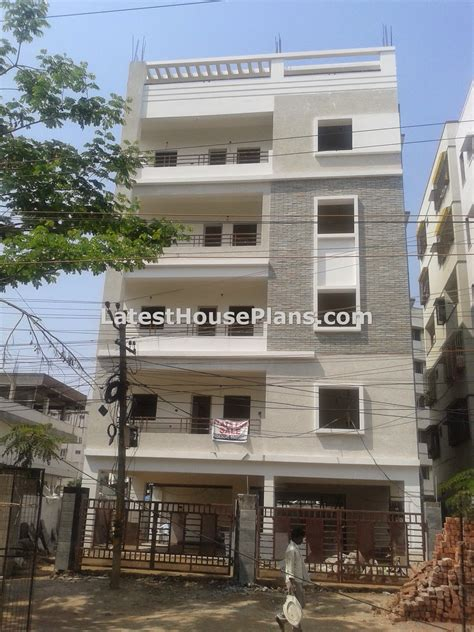small sectionals for small four floor apartment elevations in hyderabad