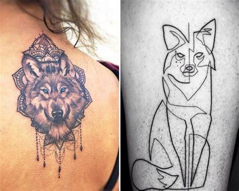 tatouage loup  tete de loup modeles  signification