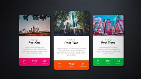 rpg styles card  hover effect htmlcss youtube