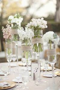 Simple and elegant - great centerpiece idea...
