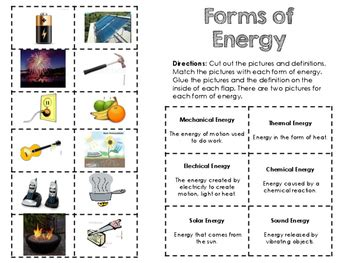 science notebook forms of energy foldable by mrs padak