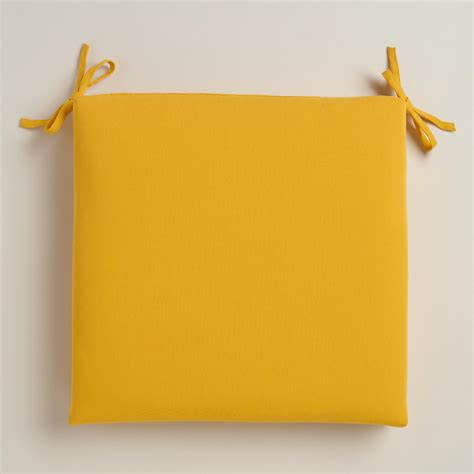yellow outdoor chair cushion world market