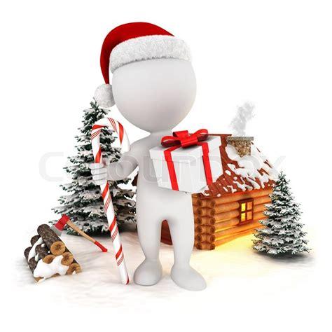 white people santa claus   christmas scene isolated