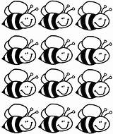 Bee Coloring Pages Crafts Bees Preschool Sablon Worksheets Kindergarten Bumble Lots Toddler Insect Rocks Theme Sheets Actvities Worker Honey Sheet sketch template