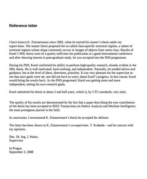 letter from supervisor 9 recommendation letter for