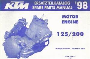 1998 Ktm 125 200 Engine Spare Parts Manual