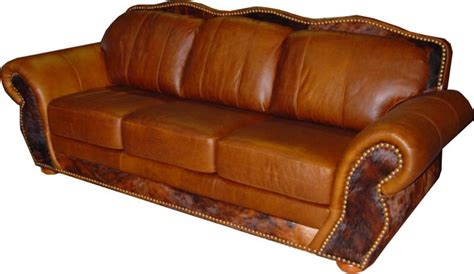 Cowhide Leather Sofa by Rustic Cowhide Sofas Rustic Sofas Couches From 3170