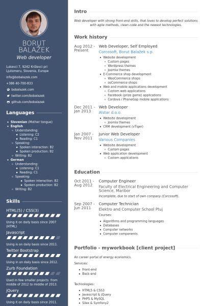 employed resume samples templates web developer