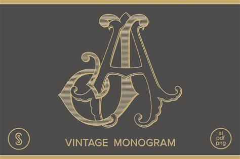 aj monogram ja monogram illustrations creative market