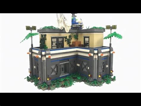 lego jurassic world ingen facility moc youtube