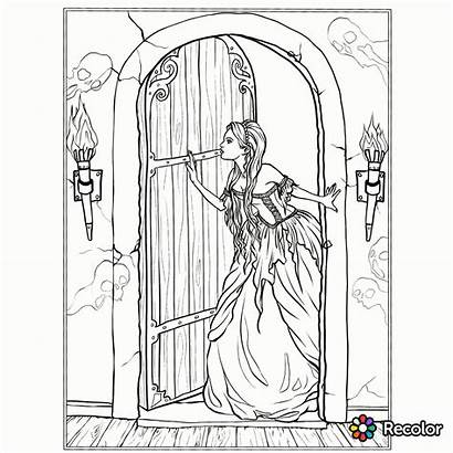 Coloring Pages Gothic Adult Fantasy Sheets Books