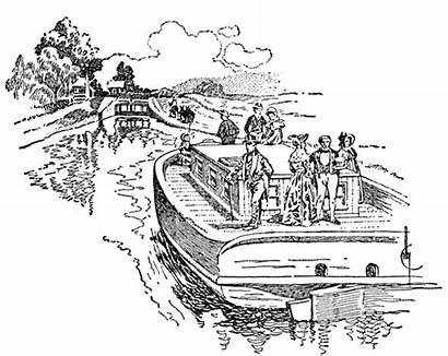 Canal Erie Clipart Boat Clip William Mary