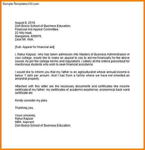 reinstatement letter  college case statement