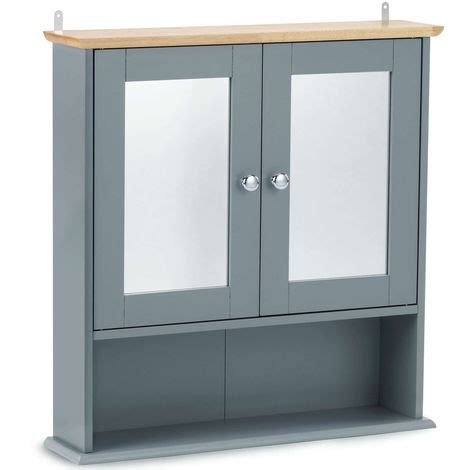 Mirrored Bathroom Cabinet With Shelves by Vonhaus Mirrored Bathroom Cabinet Solid Wood Top