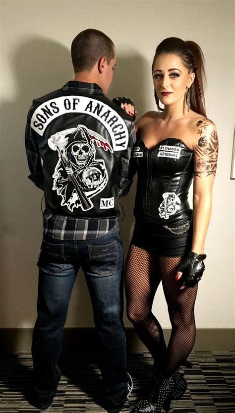 Picture Of Sons of Anarchy Halloween duo costume