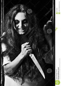 Girl with Knife in Hand