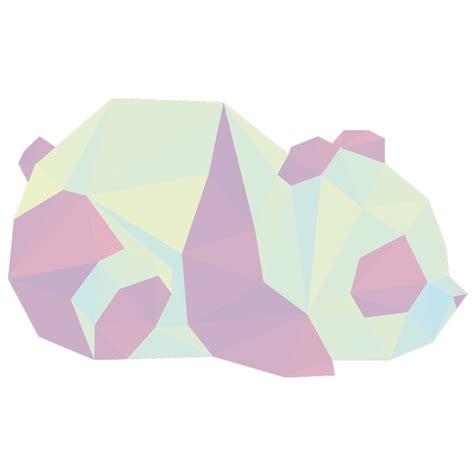 sticker origami le panda stickers chambre ado fille